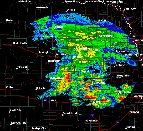 Radar Image for Severe Thunderstorms near Webber, KS at 5/4/2020 8:07 AM CDT