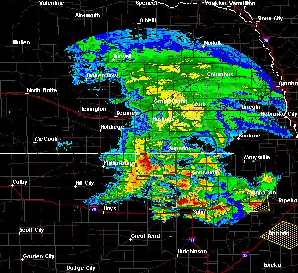 Radar Image for Severe Thunderstorms near Lincoln Center, KS at 5/4/2020 8:13 AM CDT