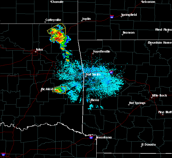 Radar Image for Severe Thunderstorms near Red Oak, OK at 5/4/2020 8:34 AM CDT