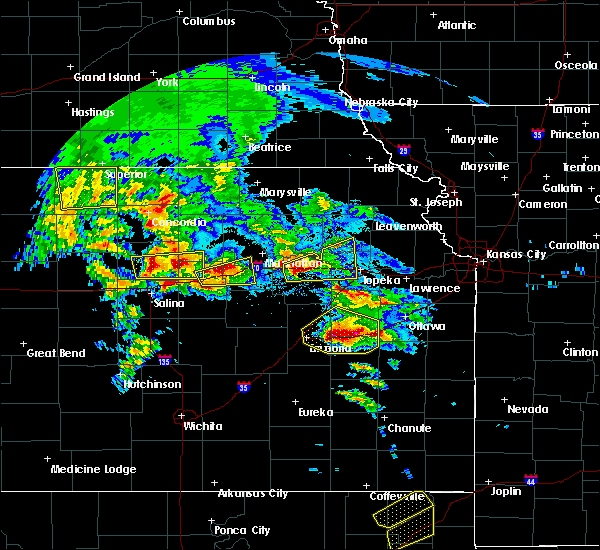 Radar Image for Severe Thunderstorms near Manchester, KS at 5/4/2020 8:35 AM CDT