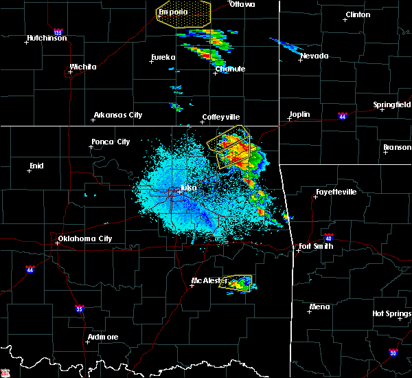 Radar Image for Severe Thunderstorms near Bernice, OK at 5/4/2020 8:44 AM CDT
