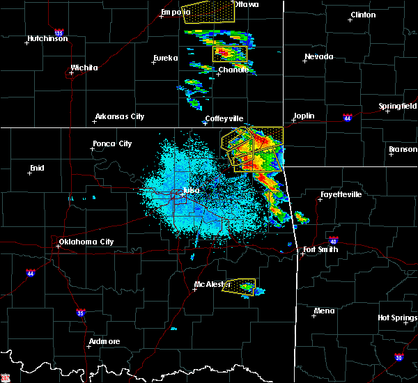 Radar Image for Severe Thunderstorms near Flint Creek, OK at 5/4/2020 8:58 AM CDT