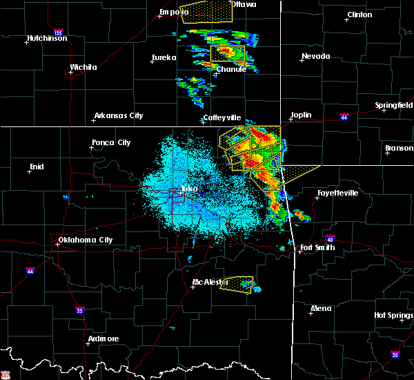 Radar Image for Severe Thunderstorms near Bernice, OK at 5/4/2020 9:04 AM CDT