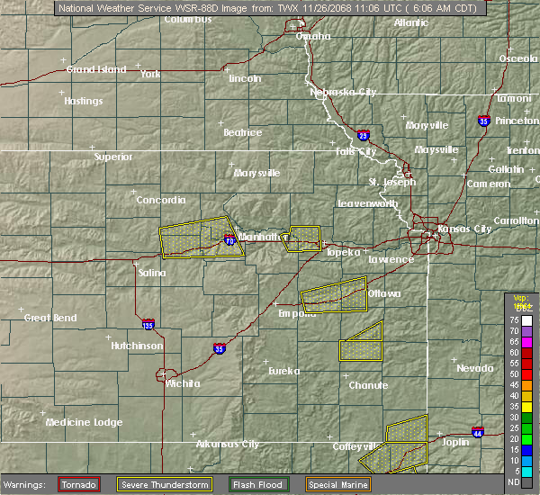 Radar Image for Severe Thunderstorms near Silver Lake, KS at 5/4/2020 9:14 AM CDT