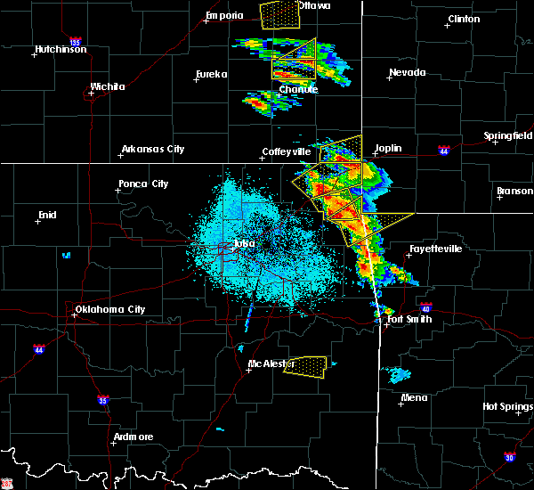 Radar Image for Severe Thunderstorms near Ketchum, OK at 5/4/2020 9:15 AM CDT