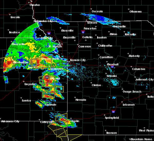 Radar Image for Severe Thunderstorms near Princeton, KS at 5/4/2020 9:18 AM CDT