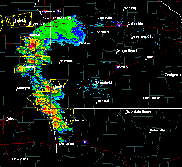Radar Image for Severe Thunderstorms near Baxter Springs, KS at 5/4/2020 9:31 AM CDT