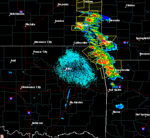 Radar Image for Severe Thunderstorms near Dodge, OK at 5/4/2020 9:36 AM CDT
