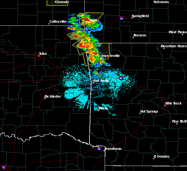 Radar Image for Severe Thunderstorms near Bethel Heights, AR at 5/4/2020 9:36 AM CDT