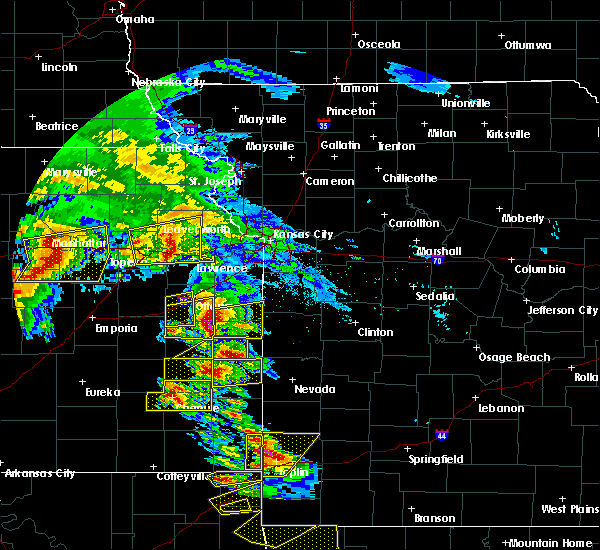 Radar Image for Severe Thunderstorms near Princeton, KS at 5/4/2020 9:37 AM CDT