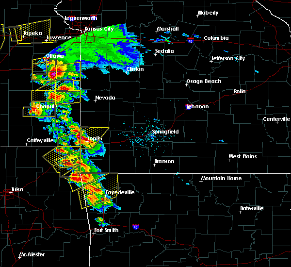 Radar Image for Severe Thunderstorms near Duenweg, MO at 5/4/2020 9:37 AM CDT