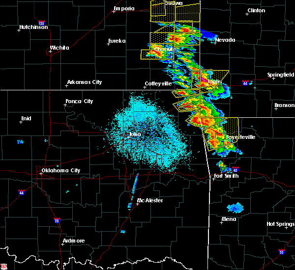 Radar Image for Severe Thunderstorms near Bernice, OK at 5/4/2020 9:38 AM CDT
