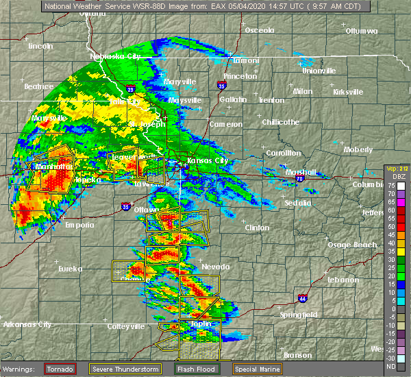 Radar Image for Severe Thunderstorms near Hume, MO at 5/4/2020 10:02 AM CDT