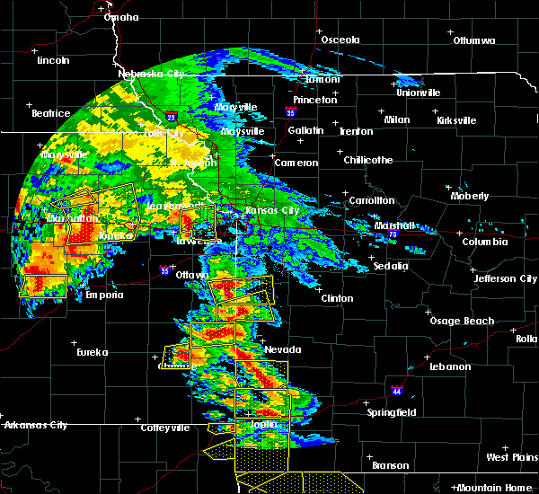 Radar Image for Severe Thunderstorms near Richards, MO at 5/4/2020 10:07 AM CDT