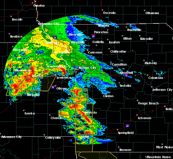 Radar Image for Severe Thunderstorms near Weatherby Lake, MO at 5/4/2020 10:18 AM CDT