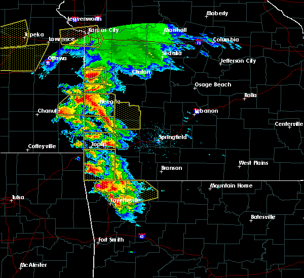 Radar Image for Severe Thunderstorms near Milford, MO at 5/4/2020 10:22 AM CDT