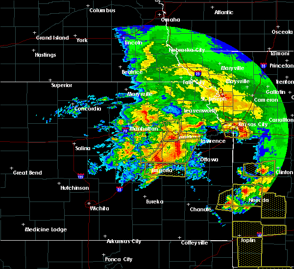 Radar Image for Severe Thunderstorms near Princeton, KS at 5/4/2020 10:47 AM CDT