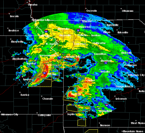 Radar Image for Severe Thunderstorms near Princeton, KS at 5/4/2020 11:20 AM CDT