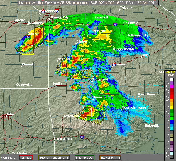 Radar Image for Severe Thunderstorms near Umber View Heights, MO at 5/4/2020 11:35 AM CDT