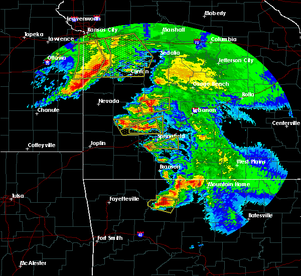 Radar Image for Severe Thunderstorms near Fordland, MO at 5/4/2020 12:14 PM CDT