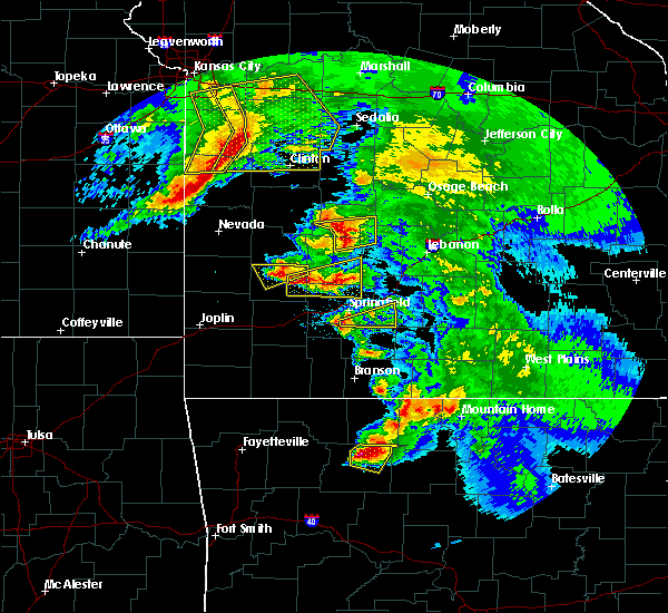 Radar Image for Severe Thunderstorms near Fordland, MO at 5/4/2020 12:20 PM CDT