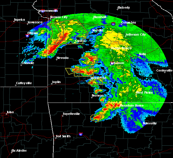 Radar Image for Severe Thunderstorms near Fordland, MO at 5/4/2020 12:23 PM CDT