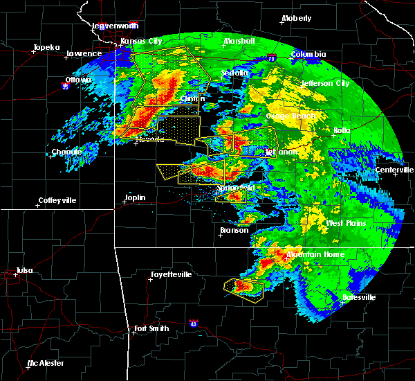 Radar Image for Severe Thunderstorms near Fordland, MO at 5/4/2020 12:38 PM CDT