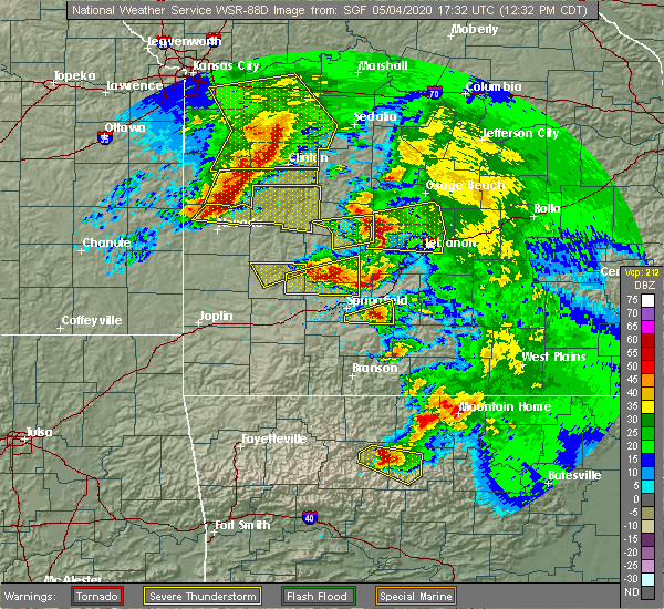 Radar Image for Severe Thunderstorms near Urbana, MO at 5/4/2020 12:42 PM CDT