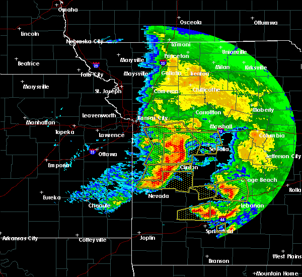 Radar Image for Severe Thunderstorms near Lincoln, MO at 5/4/2020 12:48 PM CDT