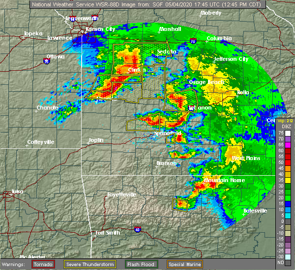 Radar Image for Severe Thunderstorms near Aldrich, MO at 5/4/2020 12:53 PM CDT