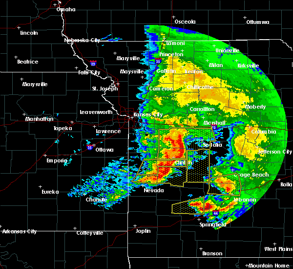 Radar Image for Severe Thunderstorms near Clinton, MO at 5/4/2020 12:54 PM CDT
