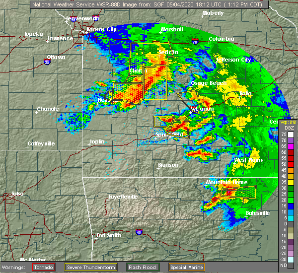 Radar Image for Severe Thunderstorms near Vista, MO at 5/4/2020 1:16 PM CDT