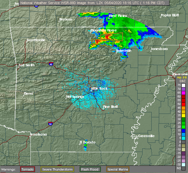Radar Image for Severe Thunderstorms near Hardy, AR at 5/4/2020 1:22 PM CDT