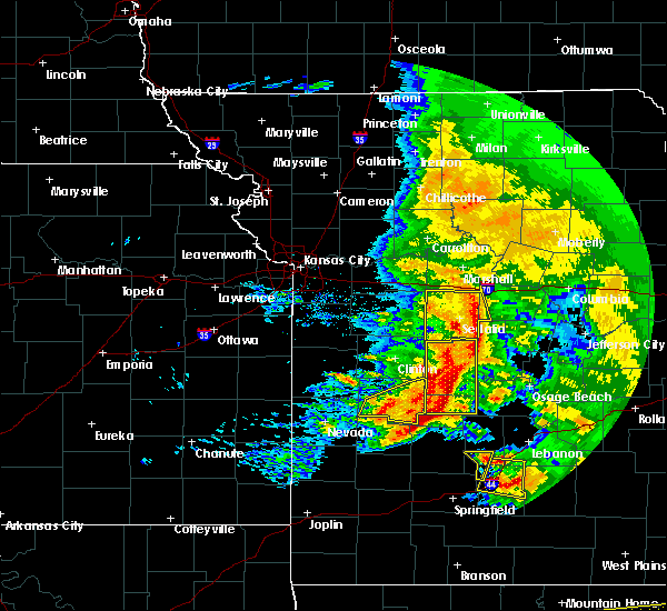 Radar Image for Severe Thunderstorms near Wooldridge, MO at 5/4/2020 1:24 PM CDT
