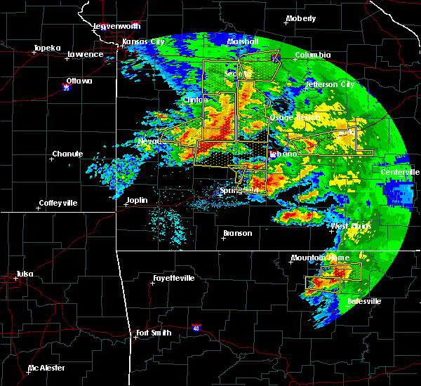 Radar Image for Severe Thunderstorms near Norwood, MO at 5/4/2020 1:32 PM CDT
