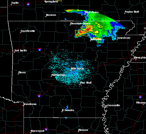 Radar Image for Severe Thunderstorms near Melbourne, AR at 5/4/2020 1:33 PM CDT