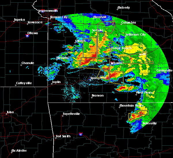 Radar Image for Severe Thunderstorms near Marshfield, MO at 5/4/2020 1:35 PM CDT