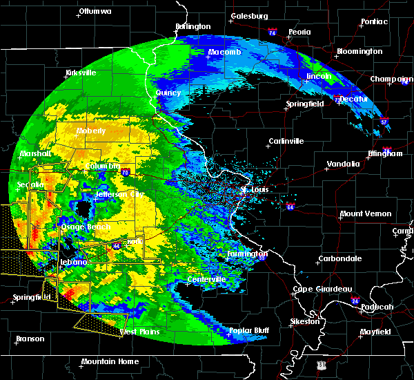 Radar Image for Severe Thunderstorms near St. James, MO at 5/4/2020 1:42 PM CDT