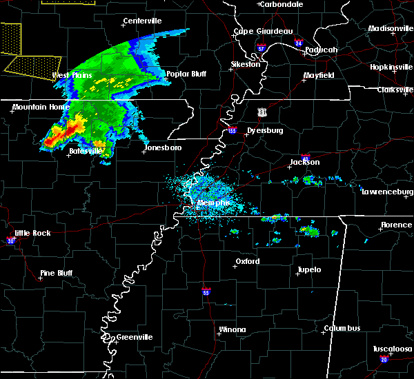 Radar Image for Severe Thunderstorms near Melbourne, AR at 5/4/2020 1:46 PM CDT
