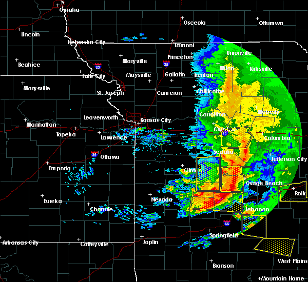 Radar Image for Severe Thunderstorms near Wooldridge, MO at 5/4/2020 1:48 PM CDT