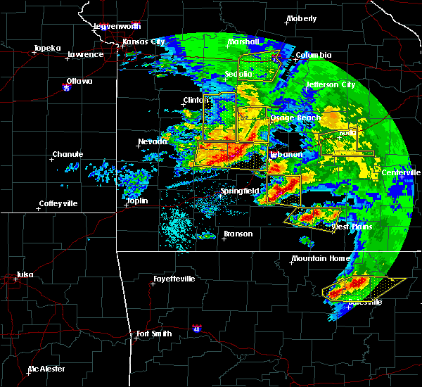 Radar Image for Severe Thunderstorms near Norwood, MO at 5/4/2020 1:48 PM CDT