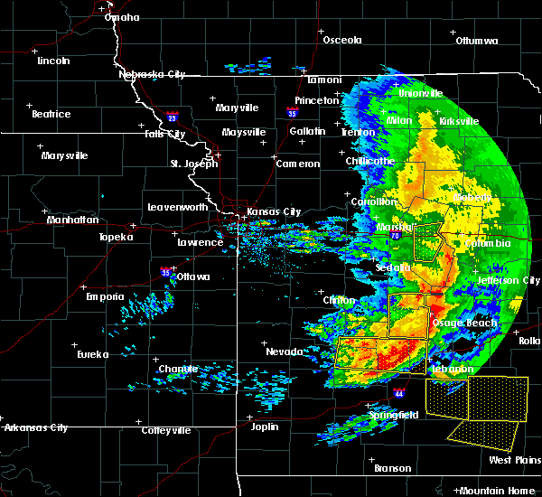 Radar Image for Severe Thunderstorms near Wooldridge, MO at 5/4/2020 1:58 PM CDT