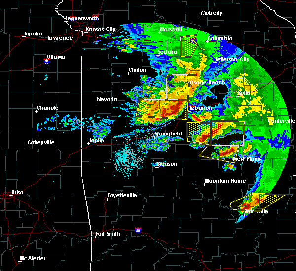 Radar Image for Severe Thunderstorms near Norwood, MO at 5/4/2020 2:04 PM CDT