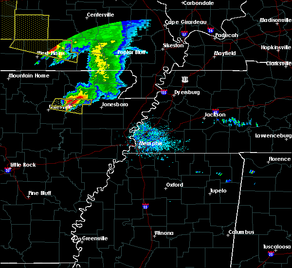 Radar Image for Severe Thunderstorms near Alicia, AR at 5/4/2020 2:27 PM CDT