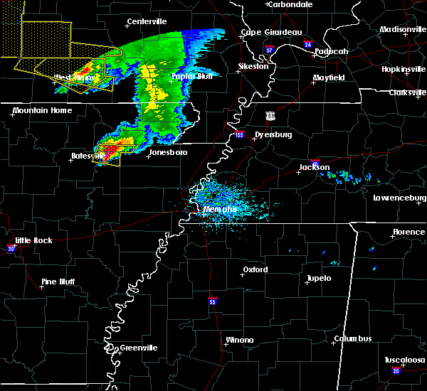 Radar Image for Severe Thunderstorms near Alicia, AR at 5/4/2020 2:34 PM CDT