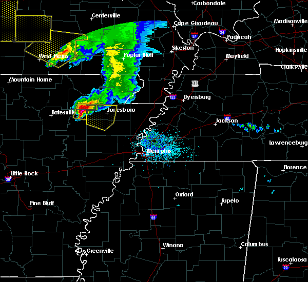 Radar Image for Severe Thunderstorms near Alicia, AR at 5/4/2020 2:39 PM CDT
