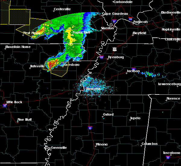 Radar Image for Severe Thunderstorms near Alicia, AR at 5/4/2020 2:45 PM CDT