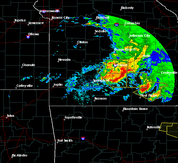 Radar Image for Severe Thunderstorms near Norwood, MO at 5/4/2020 2:49 PM CDT