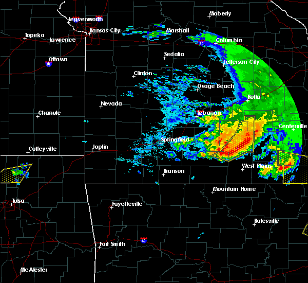 Radar Image for Severe Thunderstorms near Cabool, MO at 5/4/2020 3:18 PM CDT