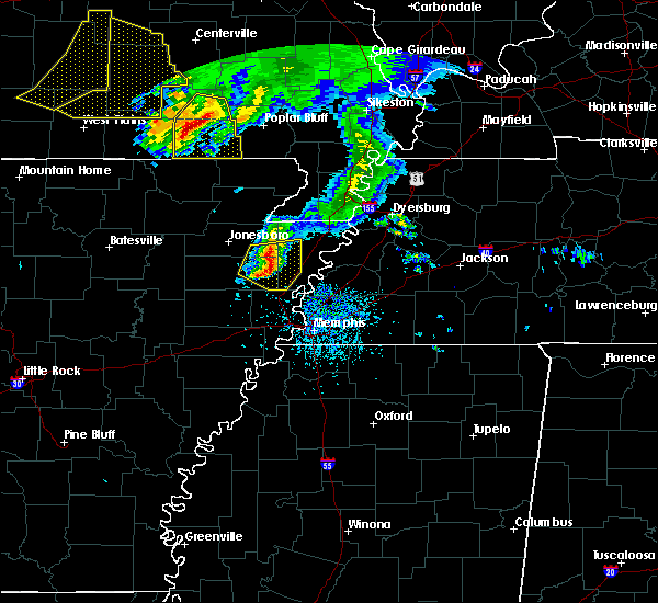 Radar Image for Severe Thunderstorms near Lake City, AR at 5/4/2020 3:31 PM CDT